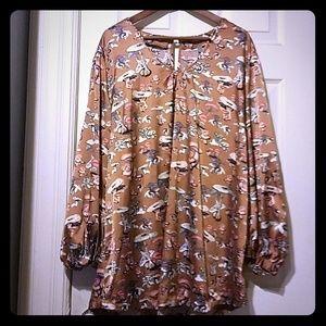 Psychadelic Mushroom tunic blouse